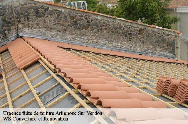 Réparation fuite de toiture à Artignosc Sur Verdon tél:04.82.29.11.99